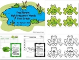 First Grade Frog Hoppin' High Frequency Word Cards & Word