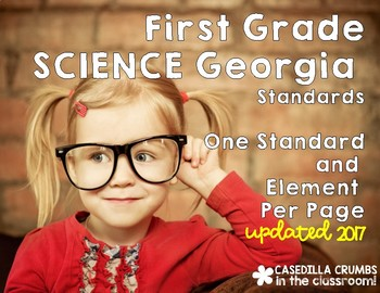 First Grade Georgia Standards Science One Per Page