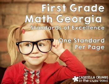 First Grade Georgia Standards of Excellence Math