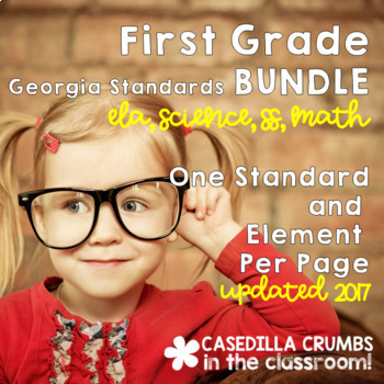 First Grade Georgia Standards of Excellence BUNDLE