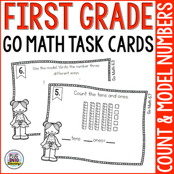 First Grade Go Math Task Cards: Chapter 6