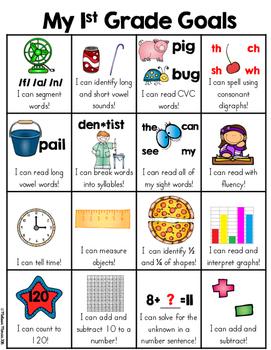 First Grade Goals Skill Sheet (1st Grade Common Core Stand