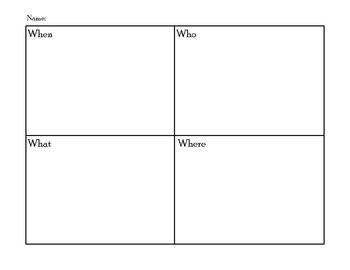 First Grade Graphic Organizer