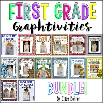 First Grade Craftivity {Graphtivity} Bundle