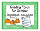 #letscelebrate First Grade Guided Reading For October