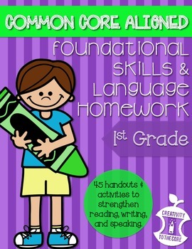 First Grade Homework - Common Core Foundational Skills & Language
