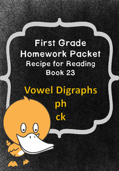First Grade Homework Recipe for Reading Book 23