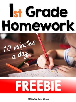First Grade Homework/Review Freebie