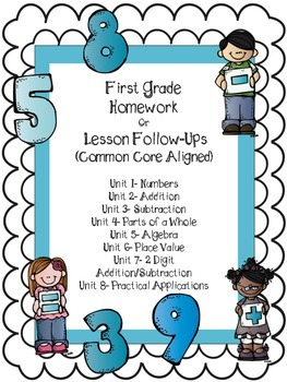 First Grade Homework or Worksheets for the Whole Year!