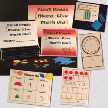 First Grade Interactive Math Wall