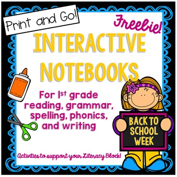 First Grade Interactive Notebook Back to School Week