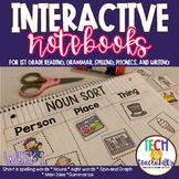 First Grade Interactive Notebook Week 1 Main Idea, Labels,