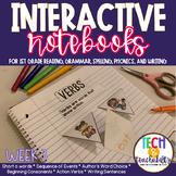 First Grade Interactive Notebook Week 3 Sequencing, Short