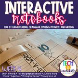 First Grade Interactive Notebook Week 4 Short E, Text Feat
