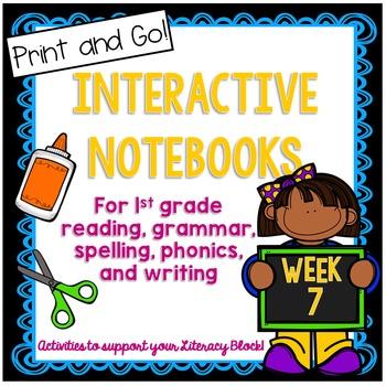 First Grade Interactive Notebook Week 7 Main Idea, Short I