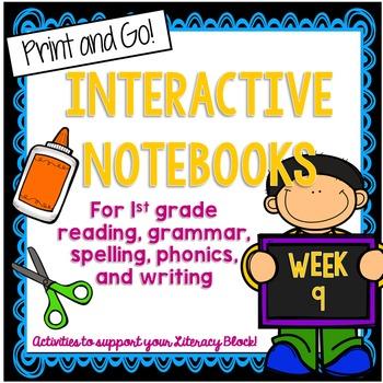 1st Grade Interactive Notebook Week 9 Short E,Biography,Si