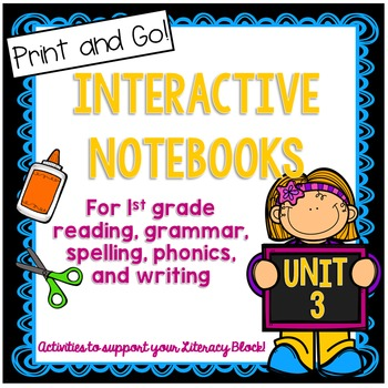 First Grade Interactive Notebook Unit 3 {5 weeks} Reading,