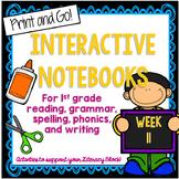 1st Grade Interactive Notebook Week 11 Proper Nouns, Autho