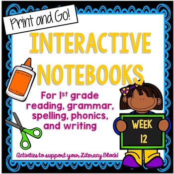 1st Grade Interactive Notebook Week 12 Commands, words wit