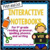 1st Grade Interactive Notebook Week 18 Author's Purpose,Lo