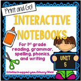 1st Grade Interactive Notebook Unit 5 {5 WEEKS} Reading Sk