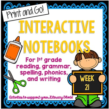 First Grade Interactive Notebook Week 21 Story Structure,