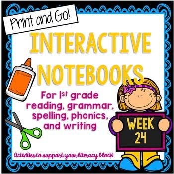 First Grade Interactive Notebook Week 24 Sequencing,Story