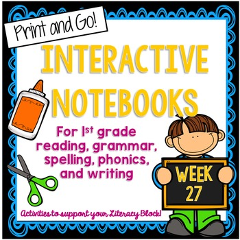 First Grade Interactive Notebook Week 27 Author's Purpose,