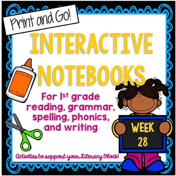 First Grade Interactive Notebook Week 28 Story Structure,