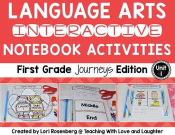 Language Arts Interactive Notebook Unit 1 {Compatible With