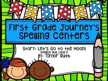 First Grade Journey's Spelling Centers & Activities (Let's
