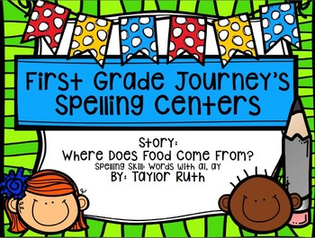 First Grade Journey's Spelling Centers & Activities (Where