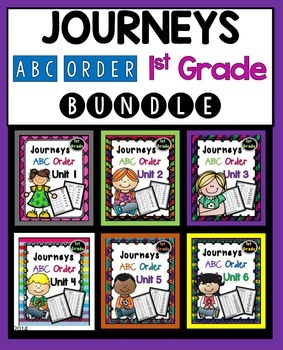 Journeys First Grade ABC Order Bundle