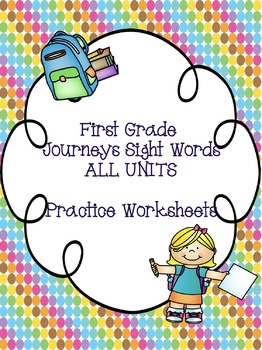 First Grade Journeys Sight Words ALL UNITS!! {235 words}