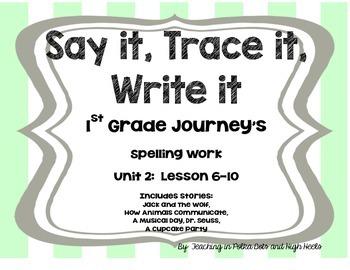 First Grade Journey's Spelling Words Supplement-- Unit 2