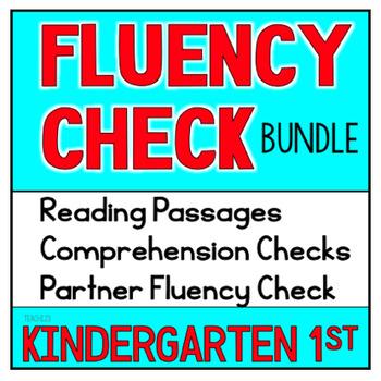 First Grade Kindergarten Reading Passages Fluency Comprehe