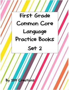 First Grade Language Common Core Practice Books 5-8