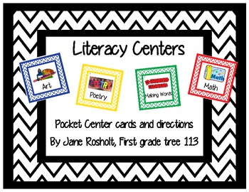 First Grade Literacy Center Labels