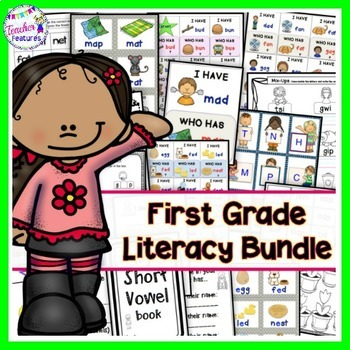1st Grade Literacy Center Activities Bundle