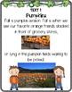 First Grade Literacy: PUMPKINS