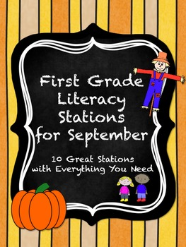 First Grade Literacy Stations for September with BONUS Sep