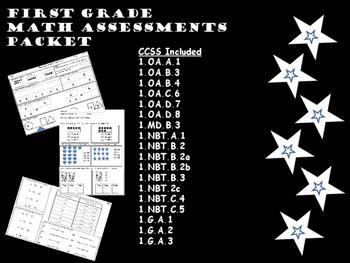 First Grade Math Assessment Packet
