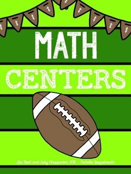 First Grade Math Centers {Football Themed}