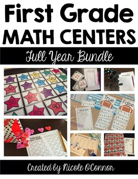 First Grade Math Centers Growing Bundle