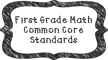 1st Grade Math Standards Posters on Black Crayon Colored Frame