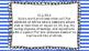 1st Grade Math Standards Posters on Blue Striped Frame
