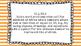 1st Grade Math Standards Posters on Orange Striped Frame