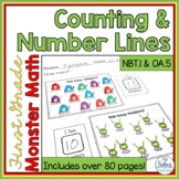 First Grade Math Counting & Number Lines  1.OA.5 1.NBT.1
