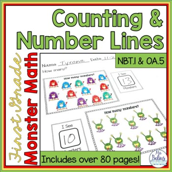 First Grade Math Number Sense Counting & Number Lines  1.O