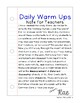 First Grade Math Daily Warm Ups for March